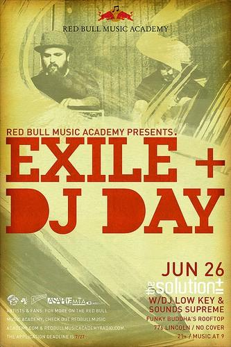Exile & DJ Day at the Solution w/surprise guests Von Pea, Donwill & Che Grand