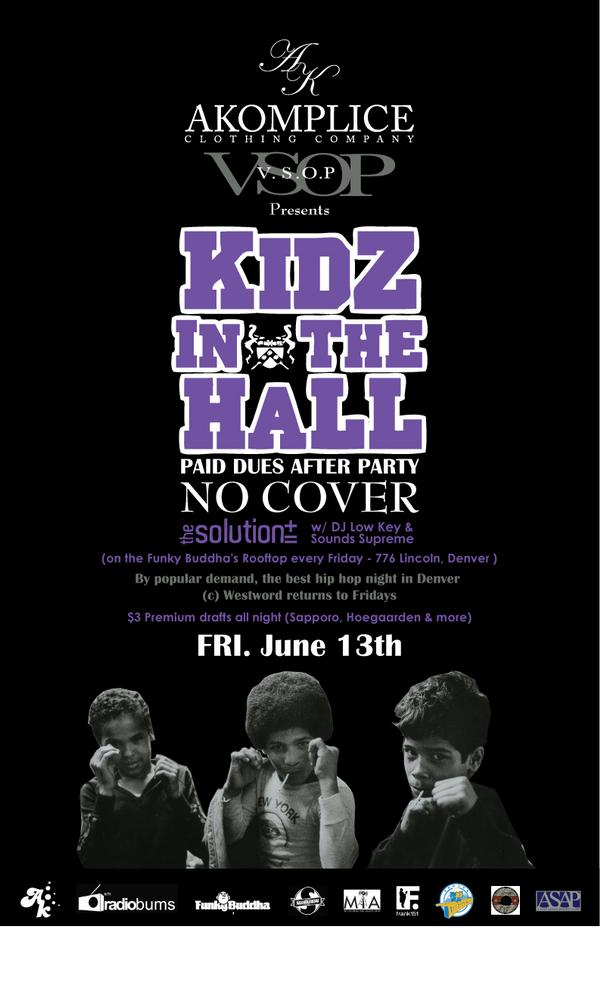 The Solution returns to Fridays with the Kidz in the Hall