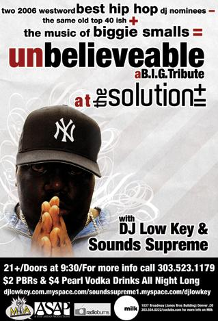 Biggie Tribute at the Solution